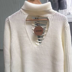 Tobi NWT Essue Crossed and Laced Oversized Sweater
